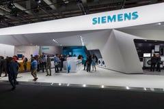 Ställning vid Siemens Fotografering för Bildbyråer