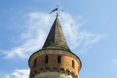 Ställningar en gammal watchtower royaltyfri fotografi