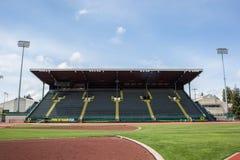 Ställningar på historiska Hayward Field i Eugene Oregon Royaltyfri Foto