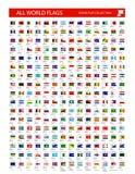 Ställningsflaggasymbol Alla världslandsflaggor stock illustrationer
