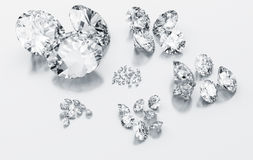 stämma överens diamantformatet som sorteras till Royaltyfria Bilder