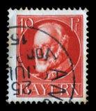 Stämpel av Bayern, Ludwig III, konung av Bayern Royaltyfria Foton