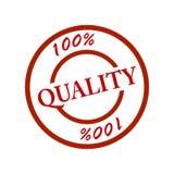 stämpel för 100 kvalitet Arkivbild