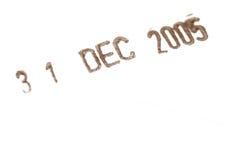 stämpel för datum ii Fotografering för Bildbyråer