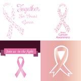 stämpel för fund för find för bröstcancerbotslagsmål post Arkivfoton