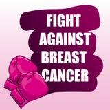 stämpel för fund för find för bröstcancerbotslagsmål post vektor illustrationer