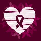 stämpel för fund för find för bröstcancerbotslagsmål post royaltyfri illustrationer