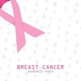 stämpel för fund för find för bröstcancerbotslagsmål post pink bandet Symbol för bröstcancer vektor illustrationer