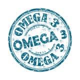 Stämpel för grunge för omega tre rubber Royaltyfri Foto