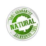 stämpel för naturlig produkt för guarantee Arkivfoton
