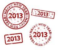 Stämpel för nytt år för vektor lycklig Arkivbild