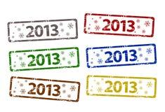 Stämpel för nytt år för vektor lycklig Royaltyfria Foton