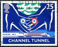Stämpel för porto för UK för kanaltunnel Arkivfoton