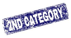 Stämpel för rektangel för 2ND KATEGORI för Grunge inramad rundad royaltyfri illustrationer