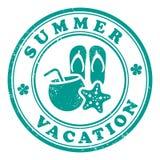 Stämpel för sommarsemester Arkivfoto