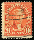 Stämpel för tappningUSA-porto av presidenten Jefferson 1922 Royaltyfri Bild