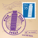 Stämpel fastställda Pisa Royaltyfri Bild