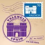 Stämpel fastställda Valencia Fotografering för Bildbyråer