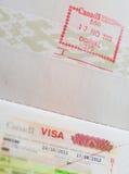 Stämpel i pass Royaltyfri Foto