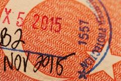 Stämpel på ett turkiskt pass royaltyfri bild