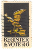 stämpel u för register s röstar Royaltyfri Foto