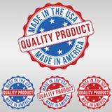 Stämpel USA för kvalitets- produkt Royaltyfri Illustrationer