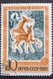 stämpel ussr för 1970 stolpe Royaltyfri Bild