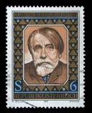 Stämpeln skrivev ut i Österrike utfärdade för den 125. årsdagen av födelsen av Arthur Schnitzler Royaltyfria Foton