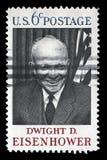 Stämpeln som skrivs ut i USA, visar Dwight D eisenhower Fotografering för Bildbyråer