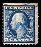 Stämpeln som skrivs ut i USA, visar George Washington Royaltyfri Fotografi