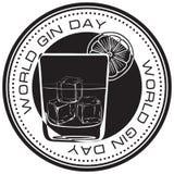 Stämpelvärld Gin Day royaltyfri illustrationer