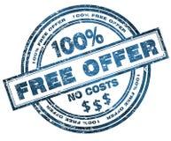 Stämpla det fria erbjudandet 100% Arkivfoto