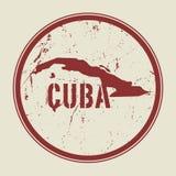 Stämpla med namnet och översikten av Kuban stock illustrationer