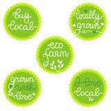 Stämplar emblem, logo för affär för organisk mat Royaltyfri Bild