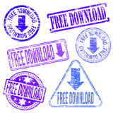 Stämplar för fri nedladdning Arkivbild