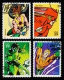Stämplar för USA Superheroesporto Royaltyfri Bild