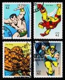 Stämplar för USA Superheroporto Arkivbilder