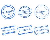 Stämplar för vitamin B3 Arkivbild