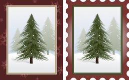 stämplar treen royaltyfri illustrationer
