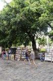 Stände auf der Piazza de Armas in Havana Lizenzfreies Stockfoto