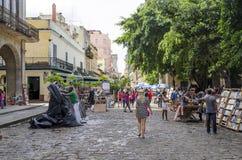 Stände auf der Piazza de Armas in Havana Lizenzfreie Stockbilder