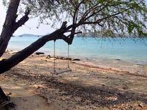 Ständiges Schwanken auf dem Strand Lizenzfreies Stockbild