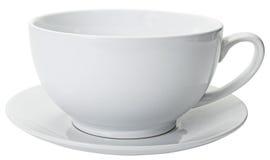 stäng kaffe den stora kantjusterade koppen Arkivbilder