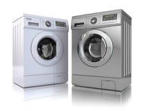 stäng maskinen som skjutas upp tvätt Royaltyfri Fotografi