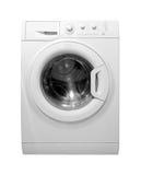 stäng maskinen som skjutas upp tvätt Arkivbilder