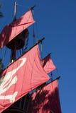 stäng sig piratkopierar upp shipen royaltyfri bild