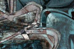 Stäng sig upp abstrakt grafittibakgrund Arkivfoto