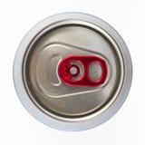 Stäng sig upp av aluminiumburkar på en bästa sikt Royaltyfri Foto