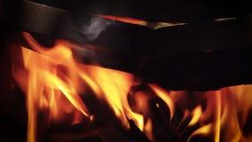 Stäng sig upp av brandträ arkivfilmer