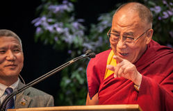 Stäng sig upp av Dalai Lama Arkivbilder